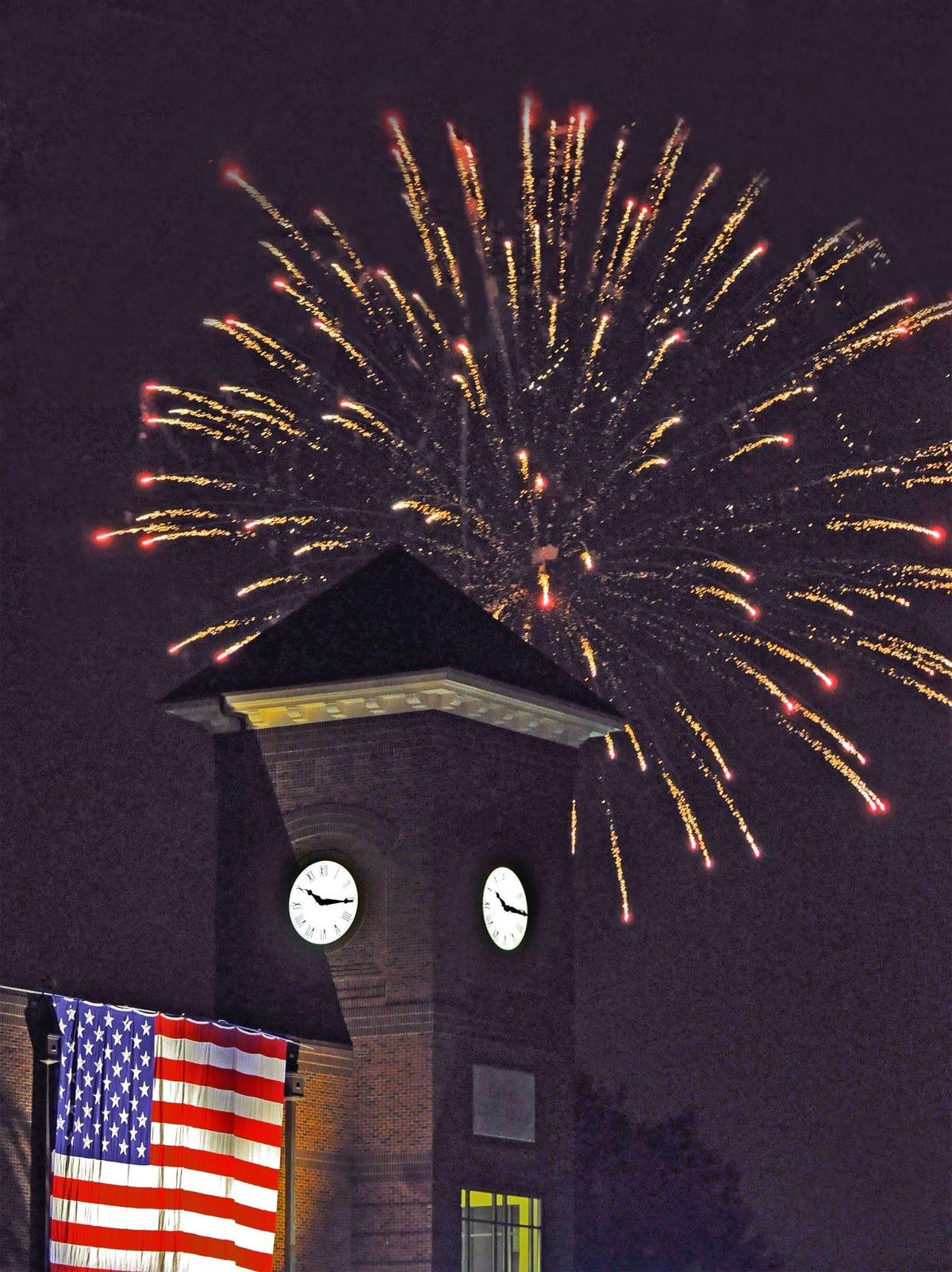 Greer fireworks over city hall