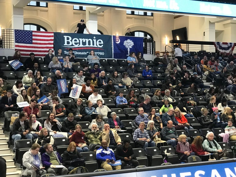 Crowd at Bernie Rally