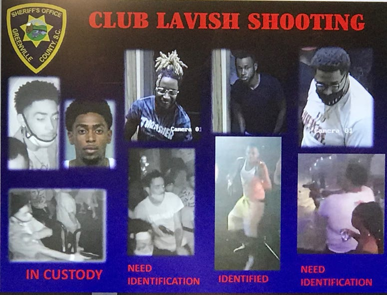 Suspects in Lavish Lounge Shooting; Far Left: Jarquez Kezavion Cooper, arrested on June 6th and currently in jail in Georgia
