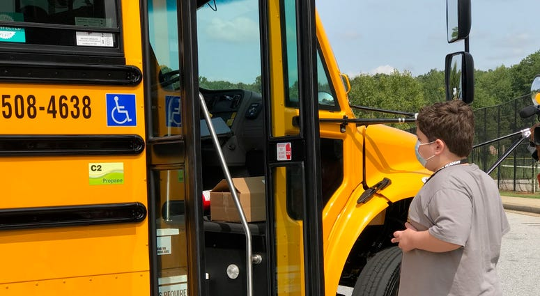 Jack Admires New Bus - Emily Gill
