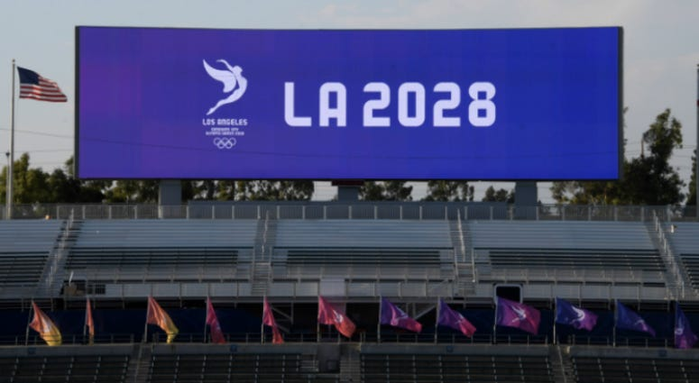 General overall view StubHub Center Stadium during a a press conference to announce the awarding of the 2028 Olympics and Paralympics Games to Los Angeles.
