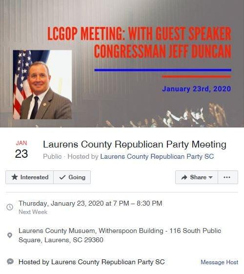 LCGOP & Congressman Duncan