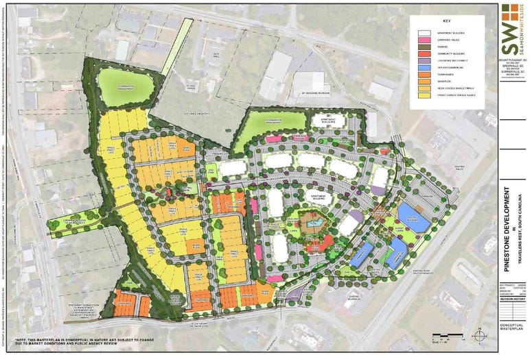PineStone proposed development in Travelers Rest