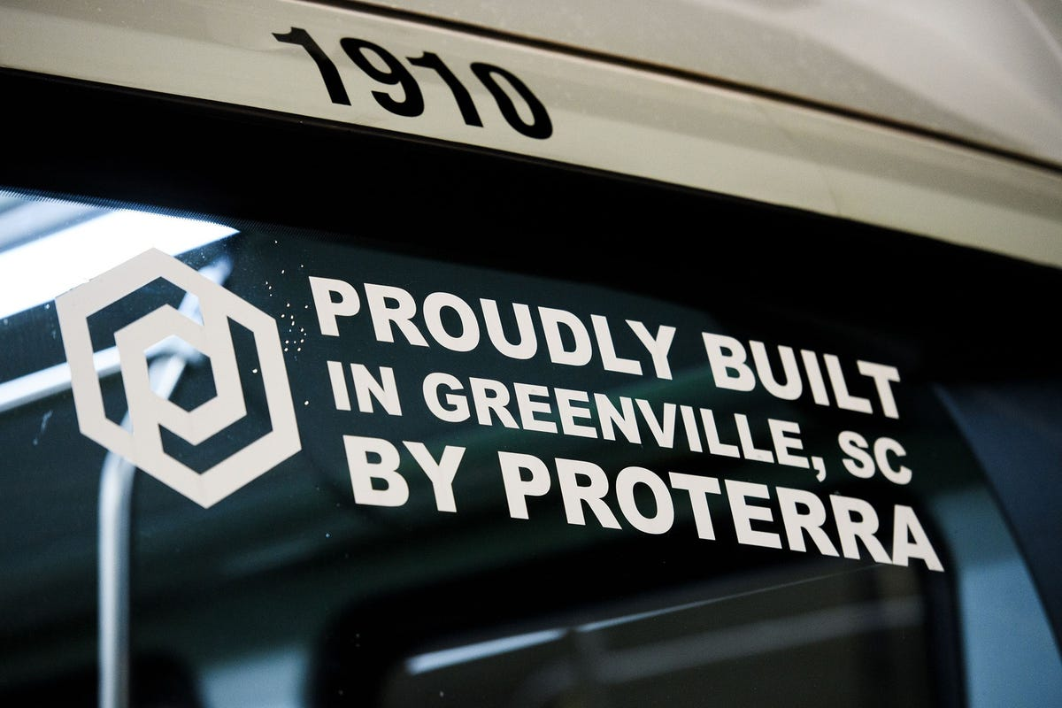 Proterra electric buses built in Greenville