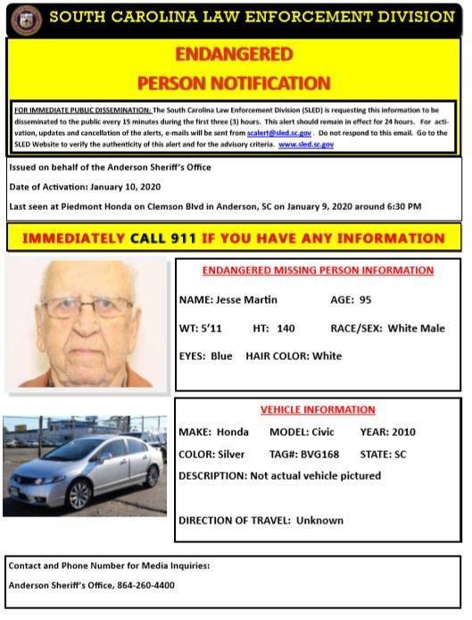 Endangered Missing Man