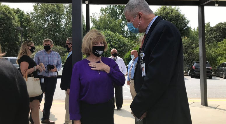 State Superintendent Molly Spearman and Greenville Superintendent Dr. Burke Royster.