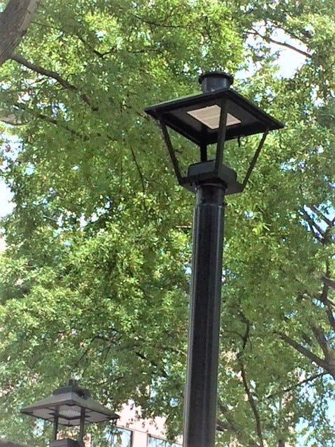 The new LED streetlights will provide better quality lighting and improve visibility for drivers and pedestrians, making downtown safer.