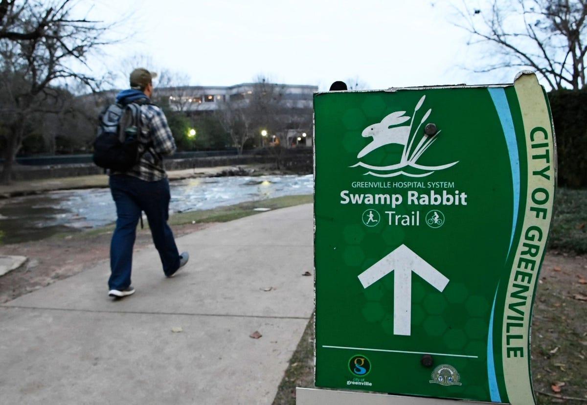 swamp rabbit trail sign