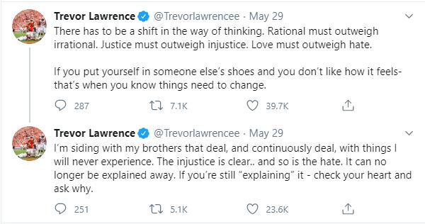 Trevor Lawrence Tweets