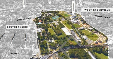 Unity Park,  Planning Area. The Reedy River Redevelopment Area and City Park planning area