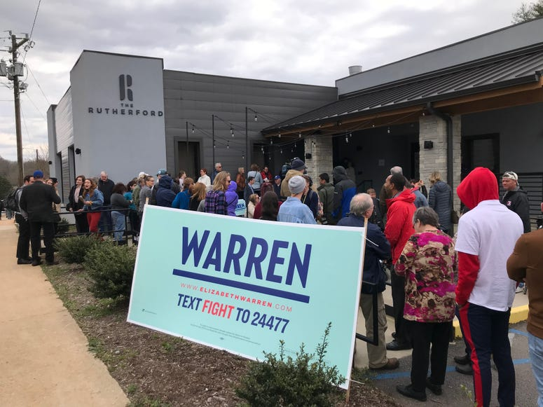 Outside the Warren Canvassing Kick-Off