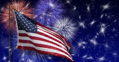 American Flag & Fireworks