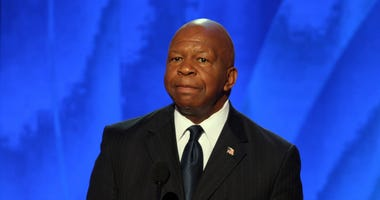 Rep Elijah Cummings (D-MD) speaks in the Pepsi Center at the Democratic National Convention in Denver, Colorado, Wednesday, August 27, 2008.