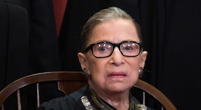 Supreme Court Associate Justice Ruth Bader Ginsburg poses during the official Supreme Court group portrait at the Supreme Court on November 30, 2018 in Washington, D.C.