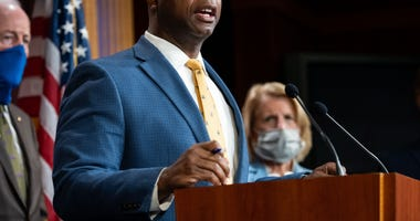 June 17, 2020 - Washington, DC, United States: U.S. Senator Tim Scott (R-SC) speaking at a press conference announcing the introduction of a Republican police reform bill.