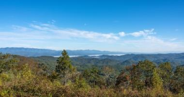 The view from the top of Sassafras Mountain