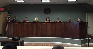 Simpsonville City Council with Mayor Janice Curtis