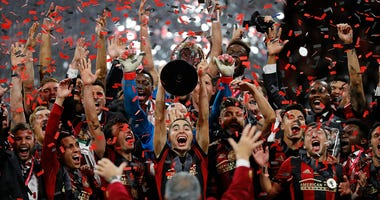 Atlanta United celebrates with the MLS Cup