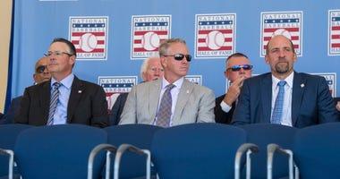Greg Maddux, Tom Glavine, and John Smoltz