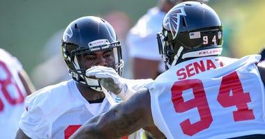 Atlanta Falcons defensive tackle Deadrin Senat