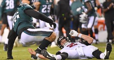 Philadelphia Eagles DE Derek Barnett and Atlanta Falcons QB Matt Ryan