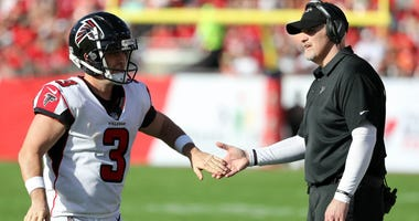 Falcons Kicker Matt Bryant and Coach Dan Quinn