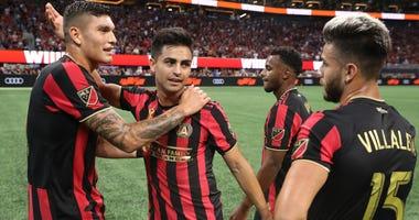 Atlanta United strikers Brandon Vazquez and Tito Villalba