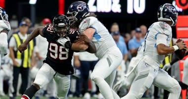 Atlanta Falcons defensive end Takkarist McKinley