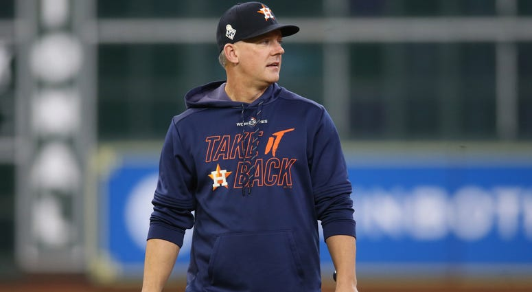 Oct 30, 2019; Houston, TX, USA; Houston Astros manager AJ Hinch before game seven of the 2019 World Series against the Washington Nationals at Minute Maid Park. Mandatory Credit: Thomas B. Shea-USA TODAY Sports