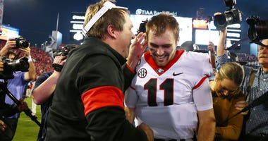 UGA Head Coach Kirby Smart and QB Jake Fromm