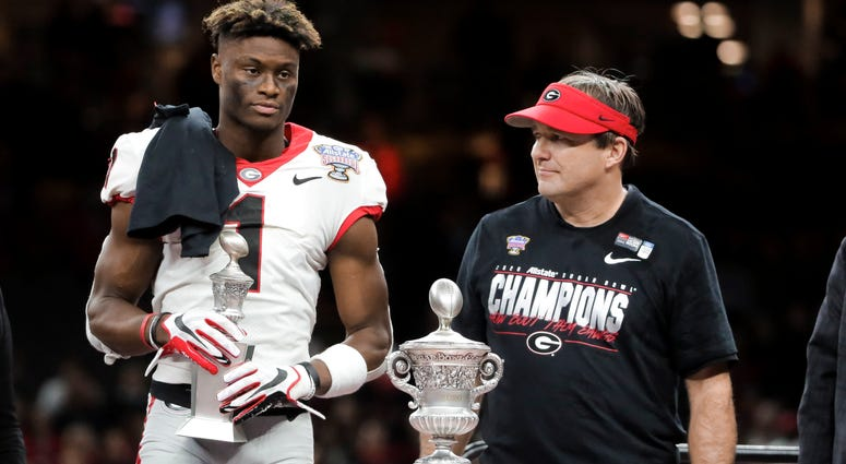 George Pickens and Kirby Smart