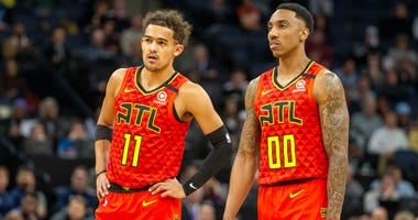 Hawks PG's Trae Young and Jeff Teague