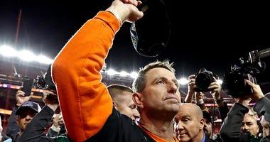 Clemson Tigers head coach Dabo Swinney