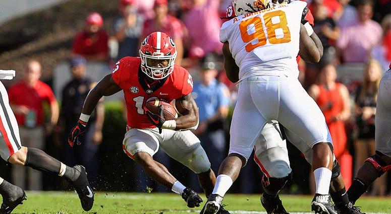 Georgia Bulldogs running back Elijah Holyfield