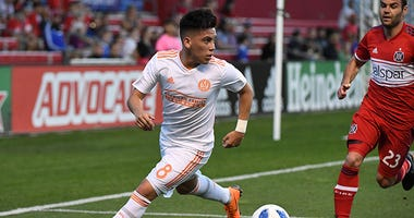 Atlanta United midfielder Ezequiel Barco
