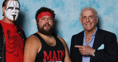 Beau Le Blanc with Sting and Ric Flair