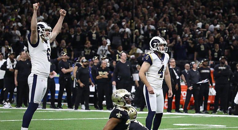 Los Angeles Rams kicker Greg Zuerlein