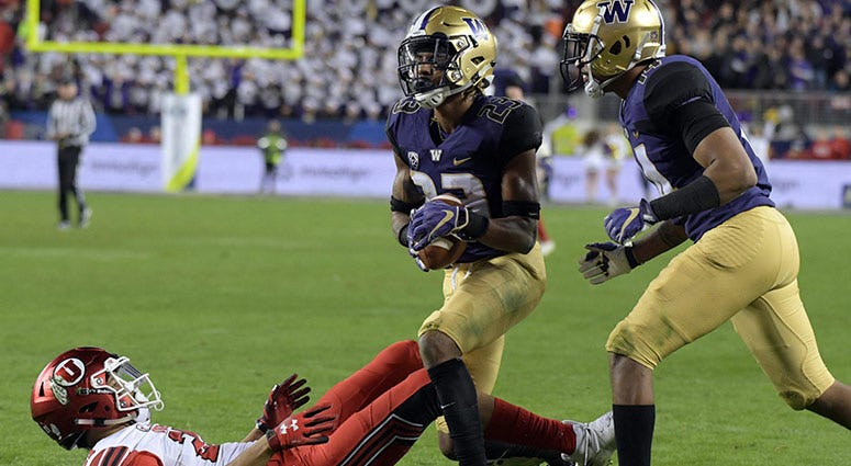 Washington Huskies defensive back Jordan Miller