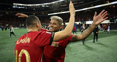 Atlanta United midfielder Miguel Almiron and forward Josef Martinez