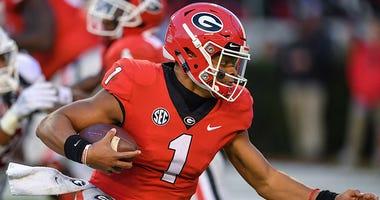 Georgia Bulldogs quarterback Justin Fields
