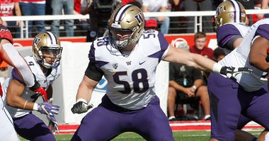 Washington Huskies offensive tackle Kaleb McGary