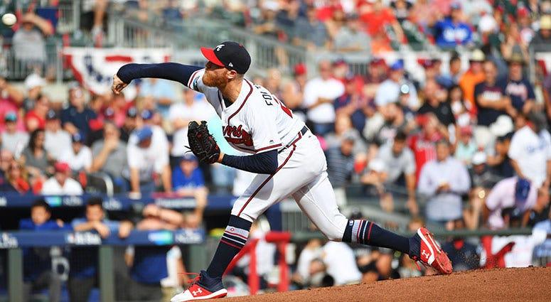 Atlanta Braves starting pitcher Mike Foltynewicz