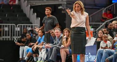 Atlanta Dream head coach Nicki Collen