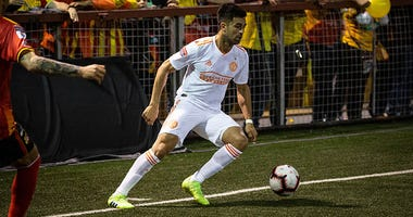 Atlanta United's Pity Martinez in CONCACAF action in Costa Rica