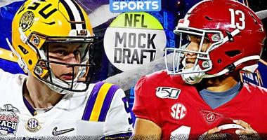 NFL Mock Draft: Burrow, Tagovailoa Selected in Top 5