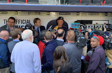 Atlanta Braves manager Brian Snitker