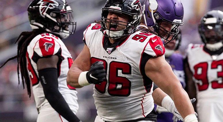 Atlanta Falcons defensive tackle Tyeler Davison