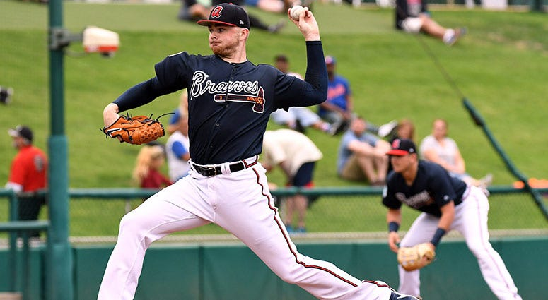 Atlanta Braves pitcher Sean Newcomb