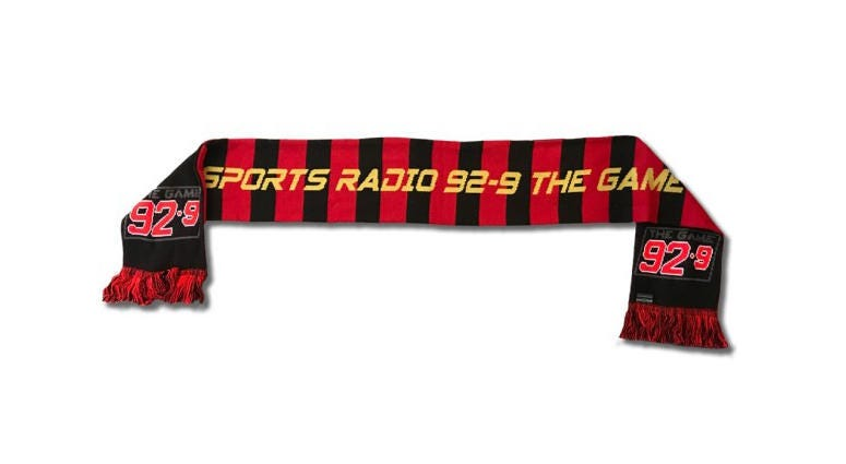 92-9 The Game soccer scarf