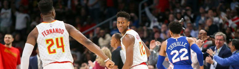 Atlanta Hawks Center Bruno Fernando and Forward De'Andre Hunter